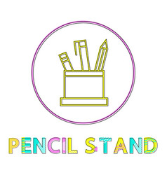 pencil stand icon in circle vector image