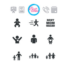 People family icons maternity sign vector