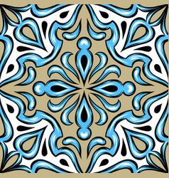 portuguese azulejo ceramic tile vector image