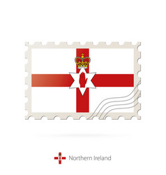 Postage stamp with image northern ireland vector