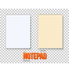 Realistic Notepad Set vector