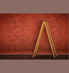 red brick wall texture closeup vector image