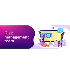 Risk management concept banner header vector