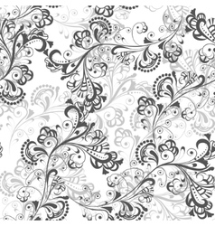 Seamless floral pattern black and white 1 vector