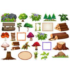 Set nature items vector