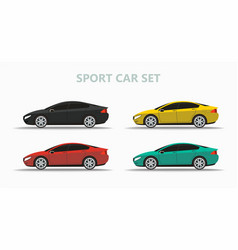 set of mock up a popular car of a different color vector image
