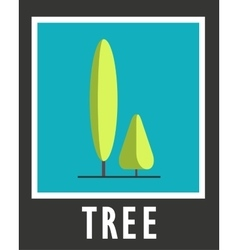 Sign of the two trees on a blue background vector