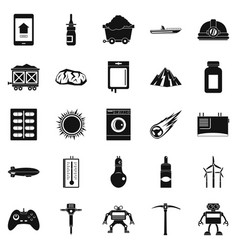 Software icons set simple style vector