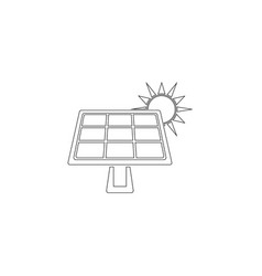 solar panel flat icon vector image