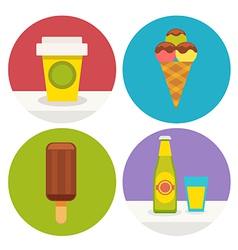 Sweets icons in flat design vector