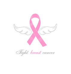 Symbol of combating breast cancer vector