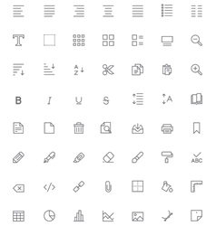 Text editing icon set vector image