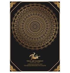 Thai art element for design traditional gold decor vector
