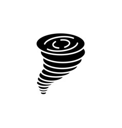 tornado icon black on white vector image