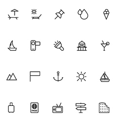 Tourism Line Icons 5 vector
