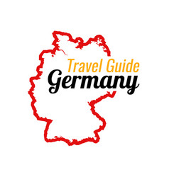 Travel to germany contour map germany vector