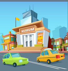 urban landscape with various buildings and facade vector image