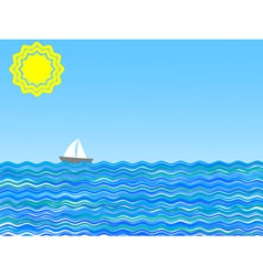 vector illustration of a sail on a sunny day vector image