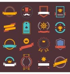 Vintage retro flat badges labels signs symbols vector image