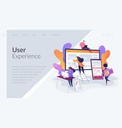 web design development landing page template vector image