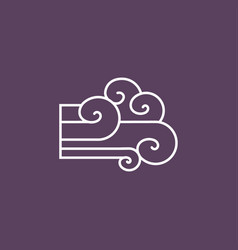Wind sign icon vector