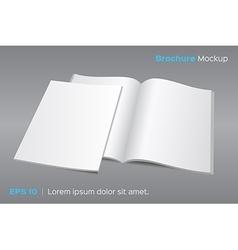 Blank opened magazine or brochure mockup vector image vector image