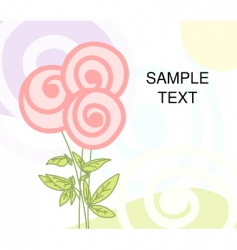 flower greeting vector image vector image