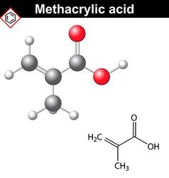 Methacrylic acid molecule vector image