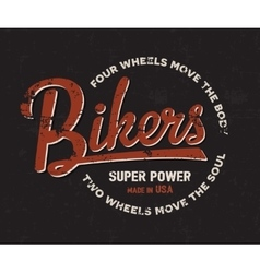 Biker motorbike motorcycle typography Vintage vector image vector image