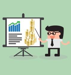 Businessman presentation vector