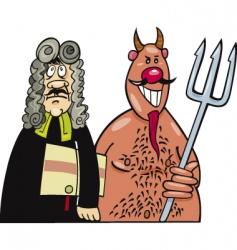 devils advocate vector image