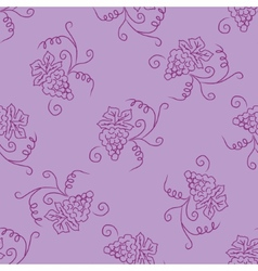 Hand drawing simple grape pattern vector image