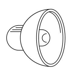 speaker sound volume thin line vector image