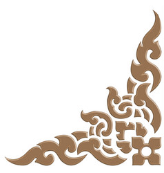 3d thai pattern carve vector image