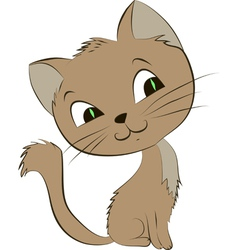 a smiling cat on a white backgroun vector image