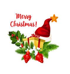 christmas holiday gift and new year garland icon vector image vector image