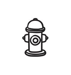 fire hydrant sketch ico vector image