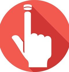 Hand Pressing Button Icon vector image vector image