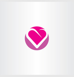 heart logo sign red symbol vector image vector image