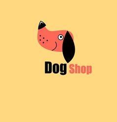 One logo dog portrait the pet store vector