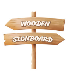 wooden signboards old geometric sign stand vector image
