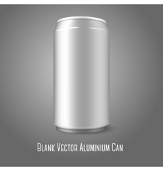 Blank aluminium can for different designs of beer vector image