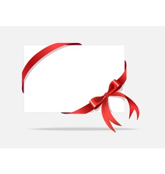 Card with decorative bow vector image vector image