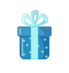 Christmas Gift icon in flat style vector image