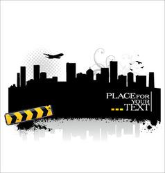 cityscape silhouettes vector image