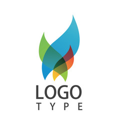 docoration abstract logo vector image