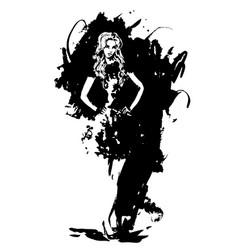 fashion woman watercolor vector image vector image