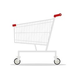 side view empty supermarket vector image vector image