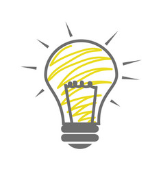skecth of light bulb icon vector image
