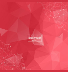 abstract low poly red technology background vector image